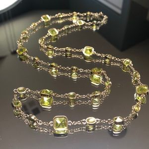 Banana Republic Green Jewel Necklace